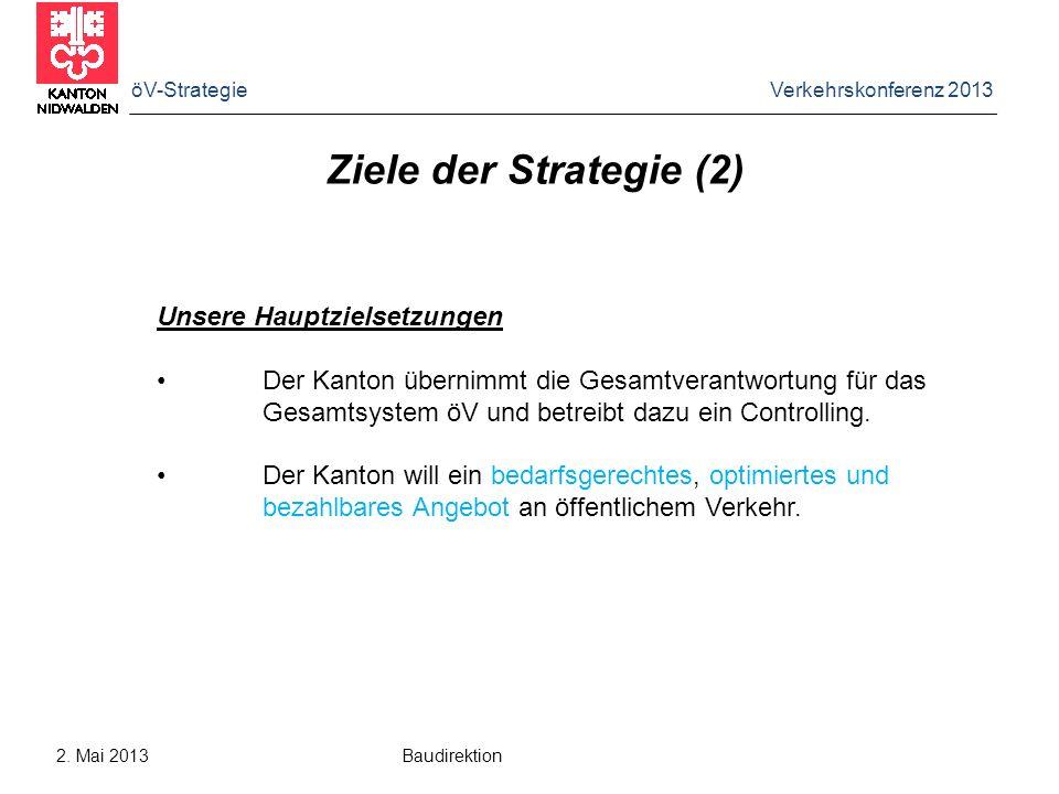 Ziele der Strategie (2) Unsere Hauptzielsetzungen