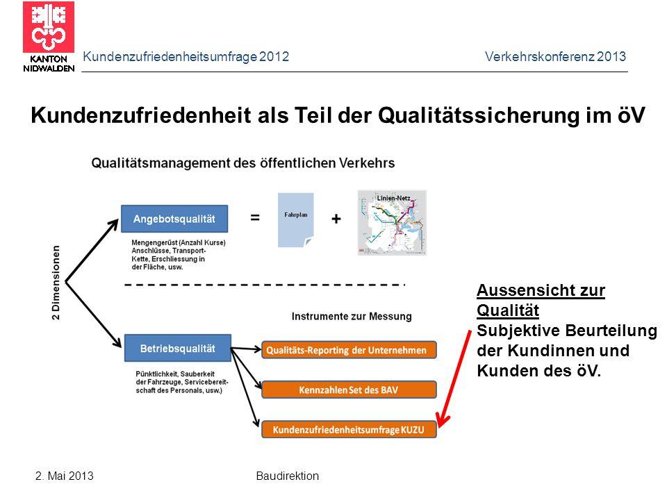 Kundenzufriedenheit als Teil der Qualitätssicherung im öV