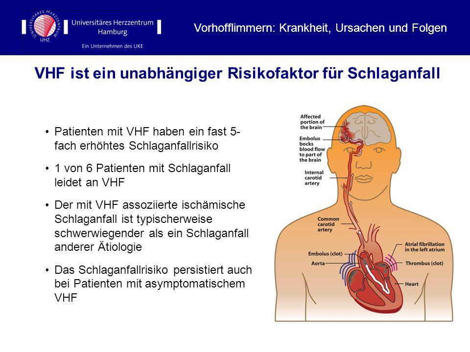 VHF ist ein unabhängiger Risikofaktor für Schlaganfall