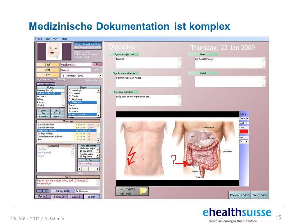 Medizinische Dokumentation ist komplex
