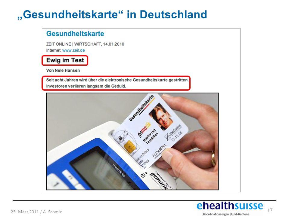 """""""Gesundheitskarte in Deutschland"""