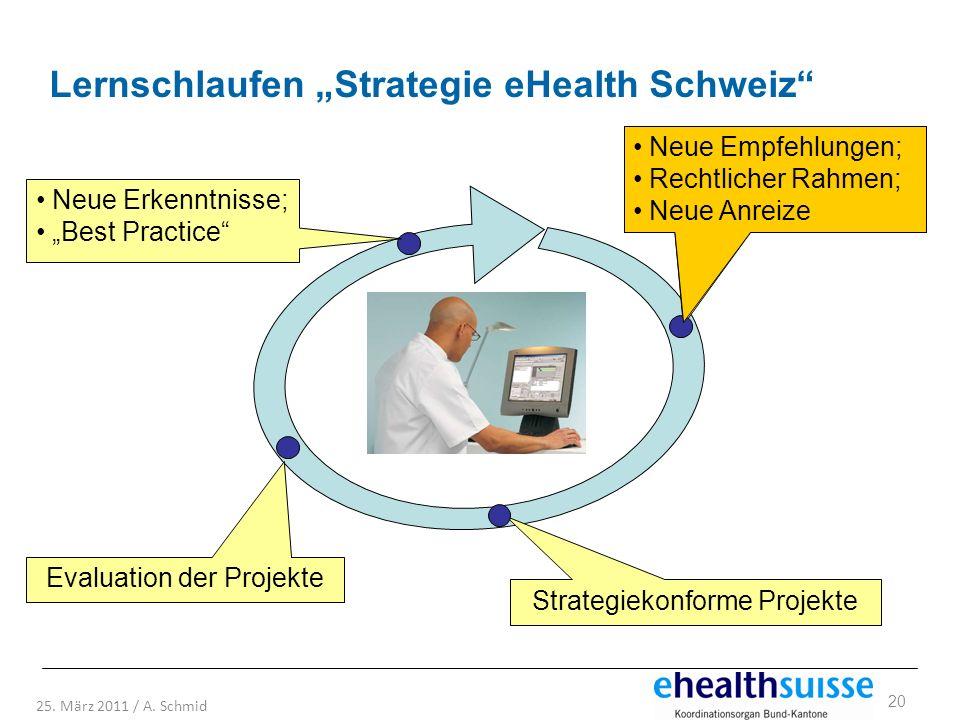 """Lernschlaufen """"Strategie eHealth Schweiz"""