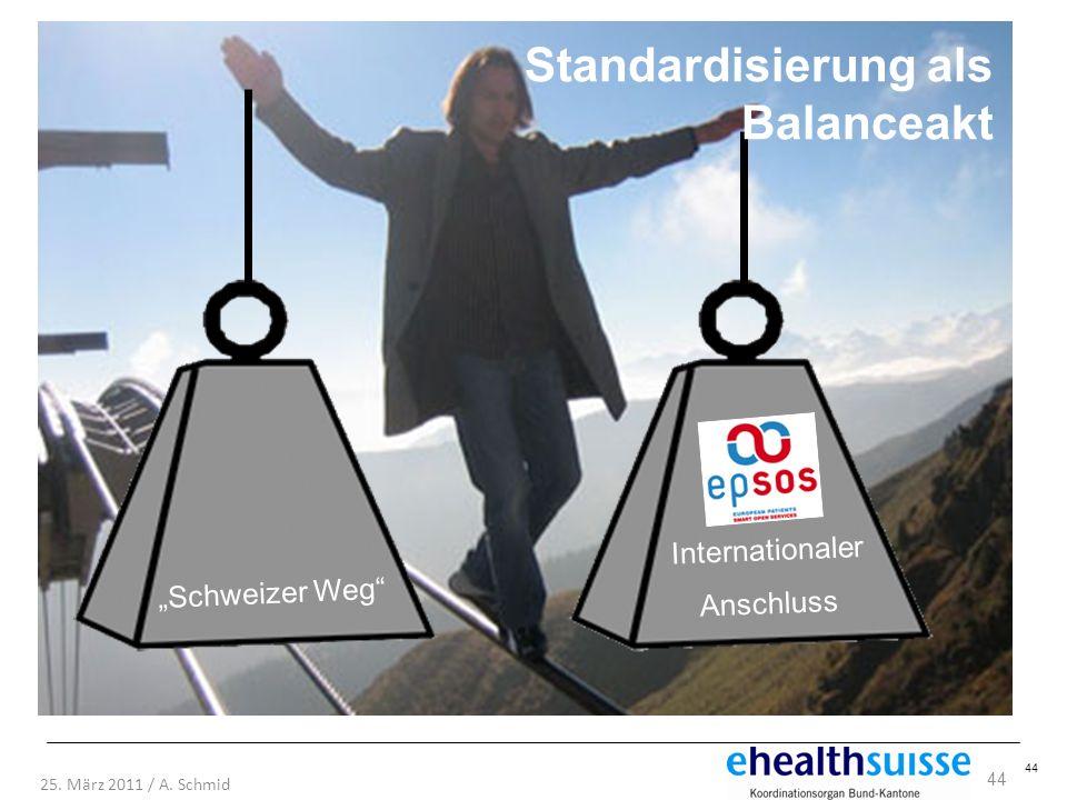 Standardisierung als Balanceakt