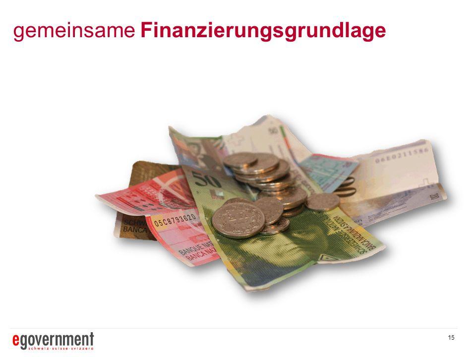 gemeinsame Finanzierungsgrundlage