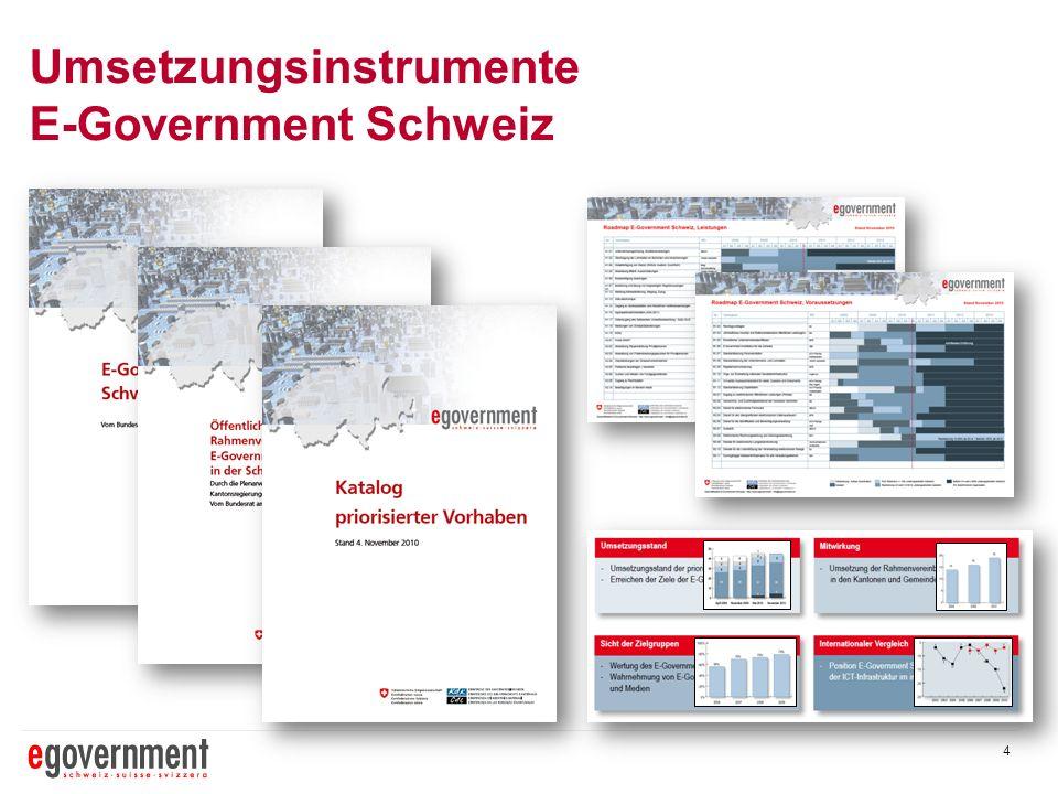 Umsetzungsinstrumente E-Government Schweiz