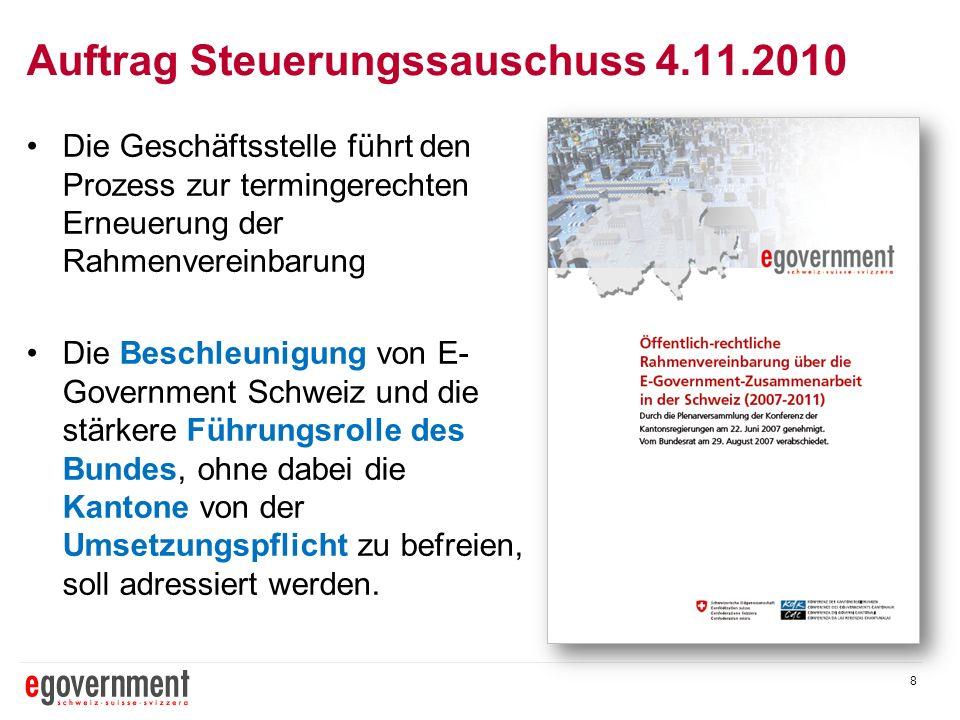 Auftrag Steuerungssauschuss 4.11.2010