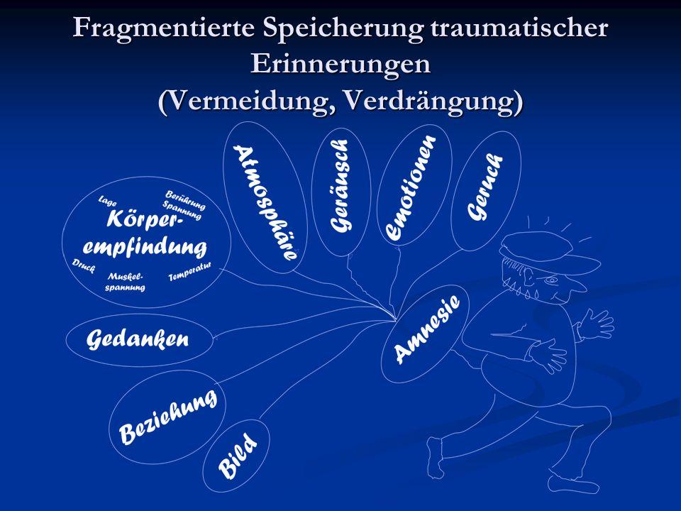 Fragmentierte Speicherung traumatischer Erinnerungen (Vermeidung, Verdrängung)