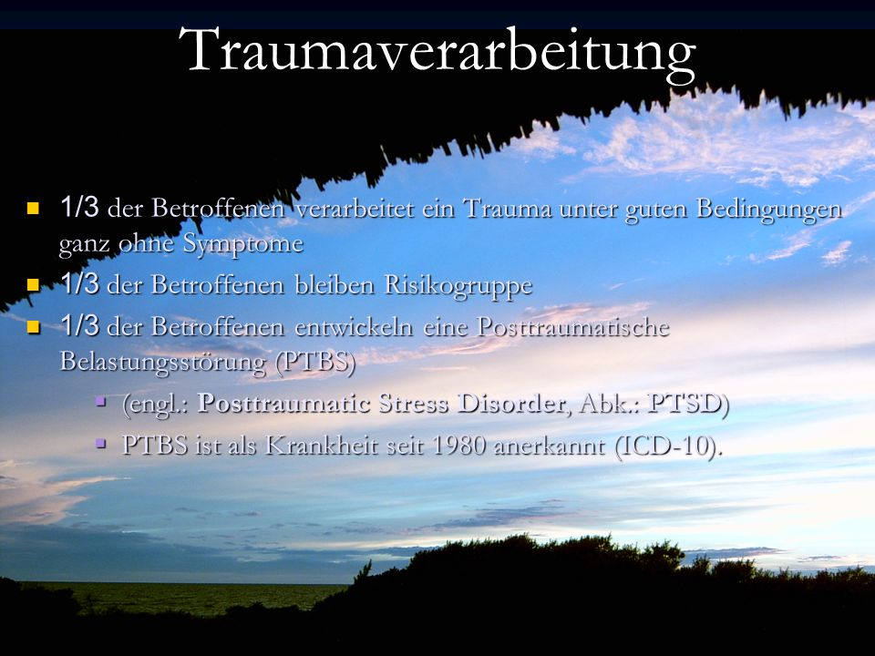 Trauma Traumaggggf–Verarbeitung