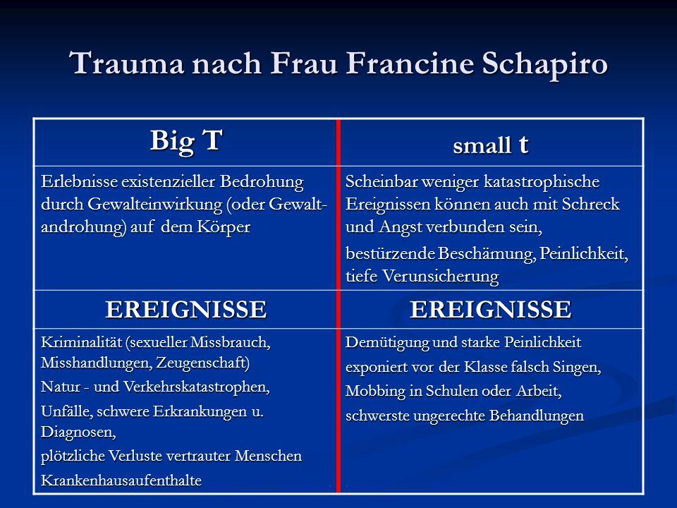 Trauma nach Frau Francine Schapiro