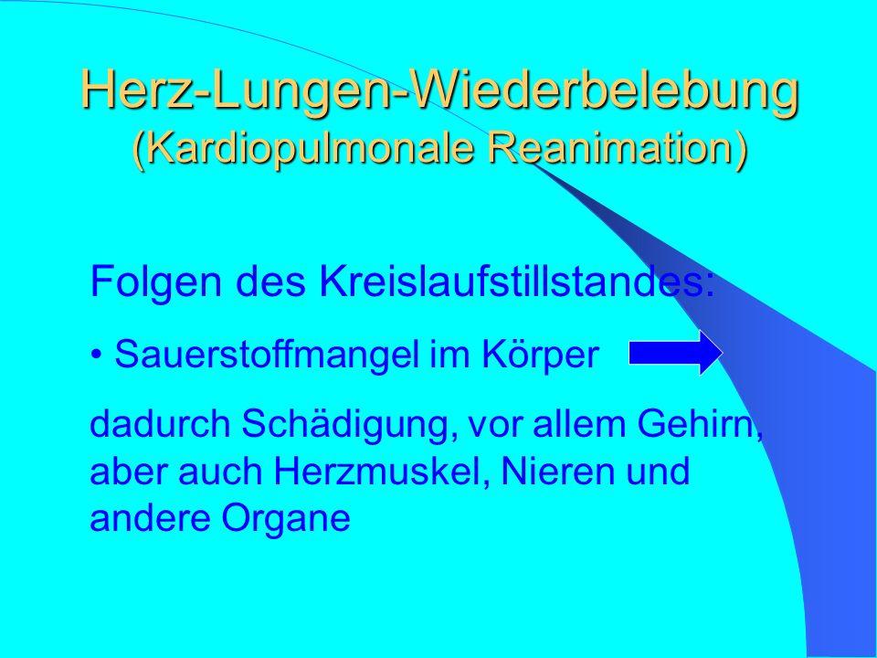 Herz-Lungen-Wiederbelebung (Kardiopulmonale Reanimation)