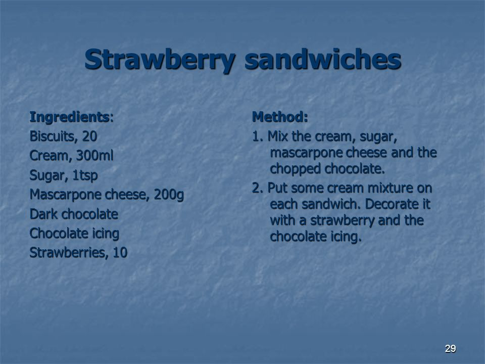 Strawberry sandwiches
