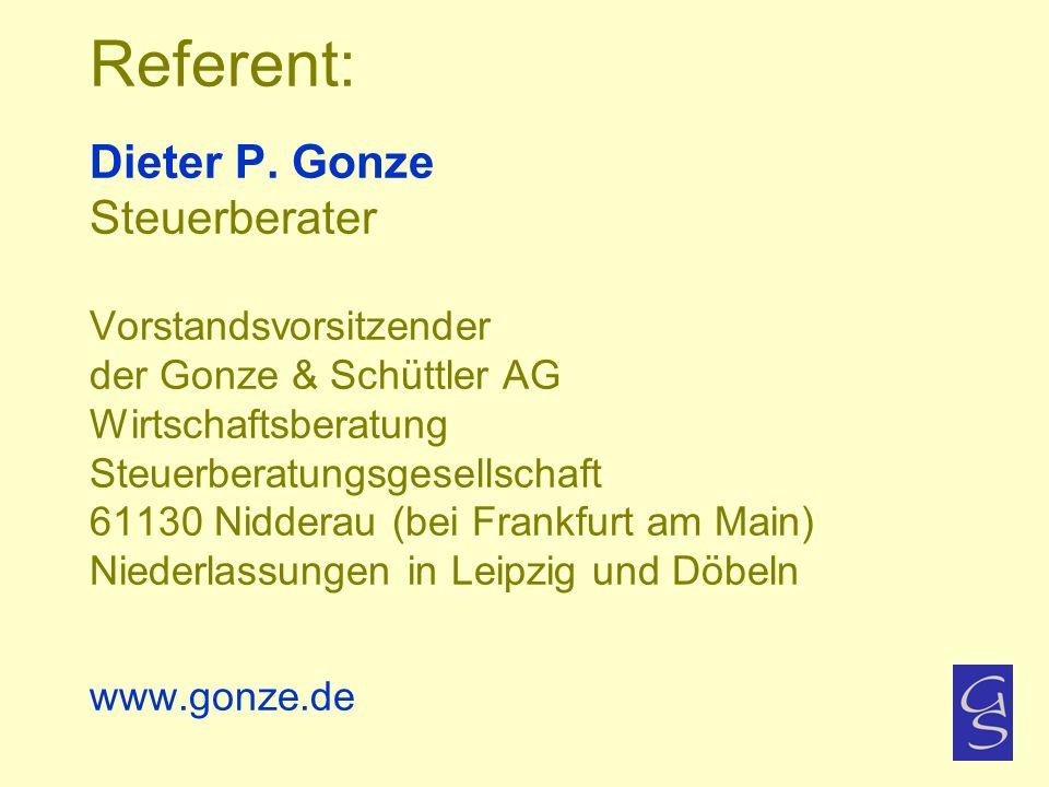 Referent: Dieter P.