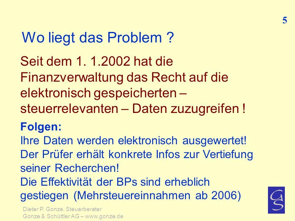 5 Wo liegt das Problem