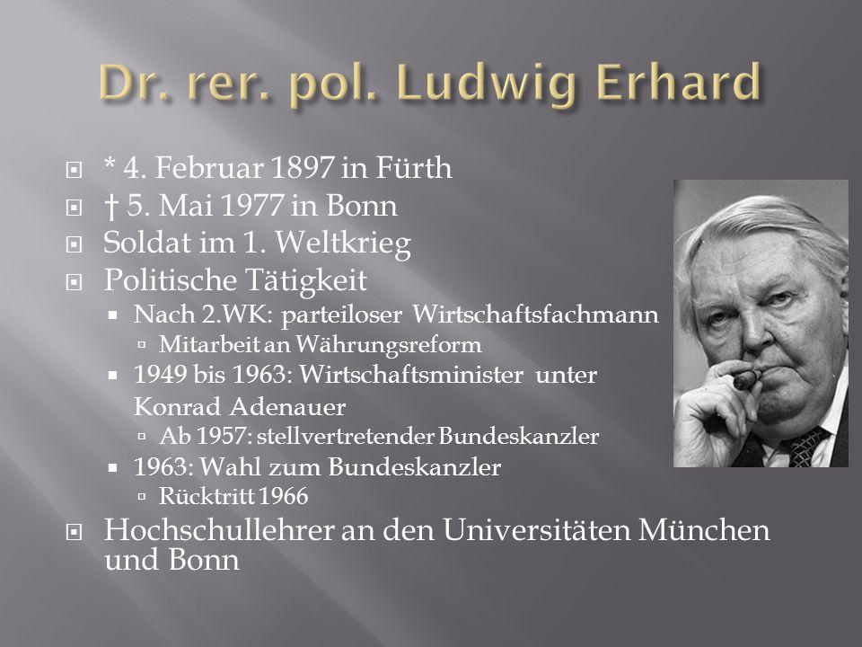 Dr. rer. pol. Ludwig Erhard