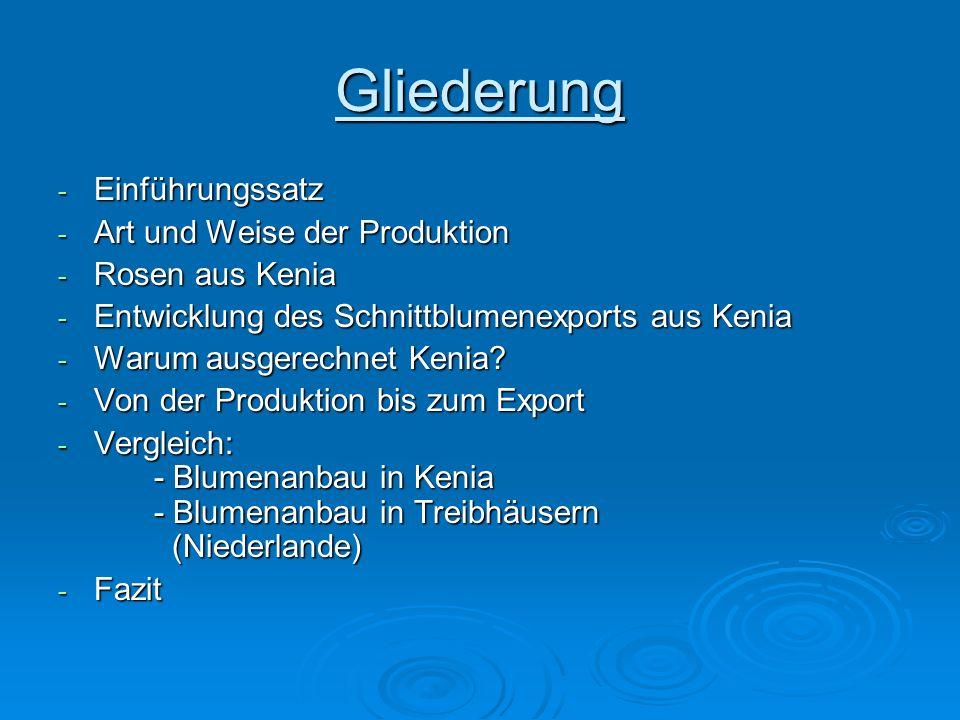 Gliederung Einführungssatz Art und Weise der Produktion