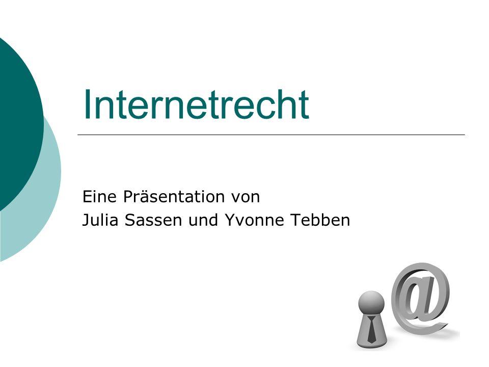 Eine Präsentation von Julia Sassen und Yvonne Tebben