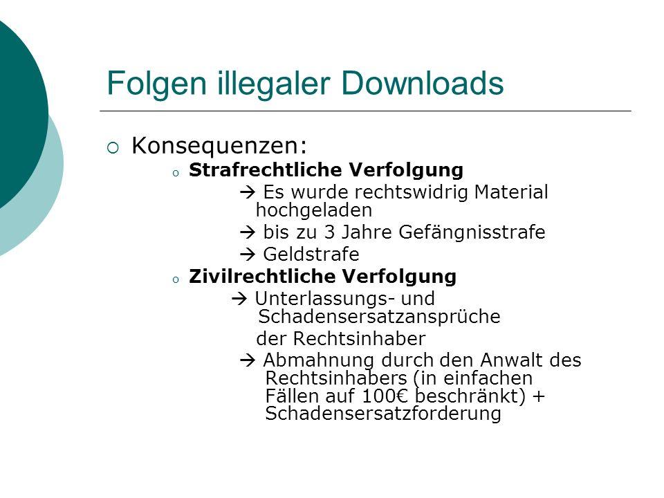 Folgen illegaler Downloads