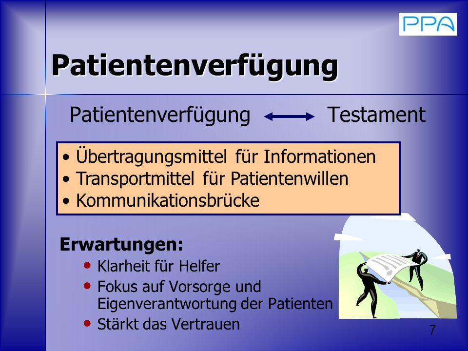 Patientenverfügung Testament