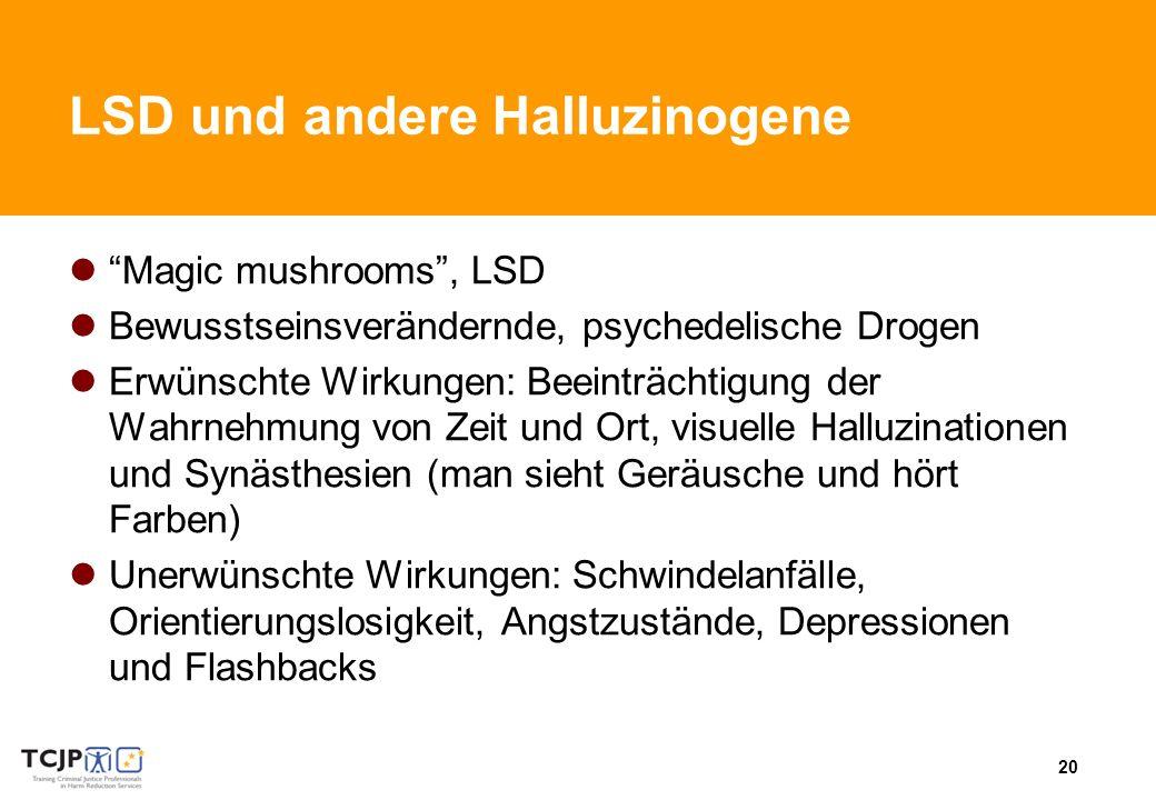 LSD und andere Halluzinogene