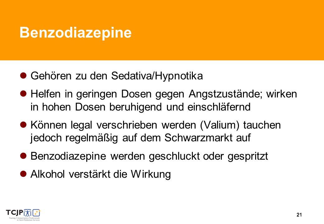 Benzodiazepine Gehören zu den Sedativa/Hypnotika
