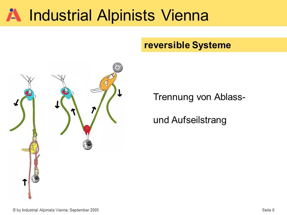 reversible Systeme Trennung von Ablass- und Aufseilstrang