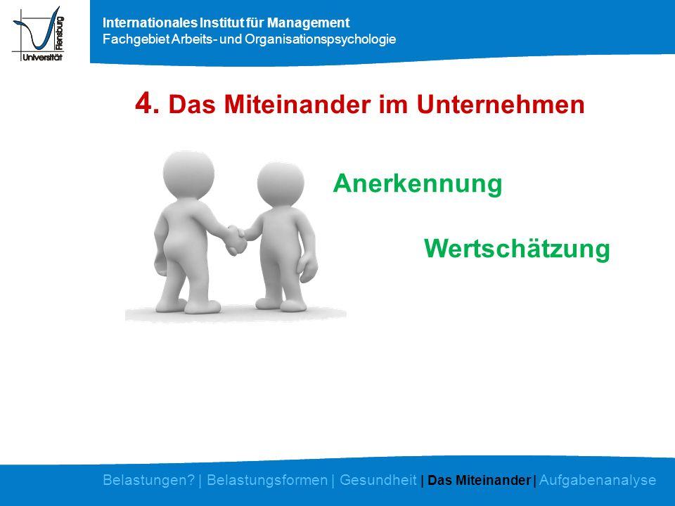 4. Das Miteinander im Unternehmen