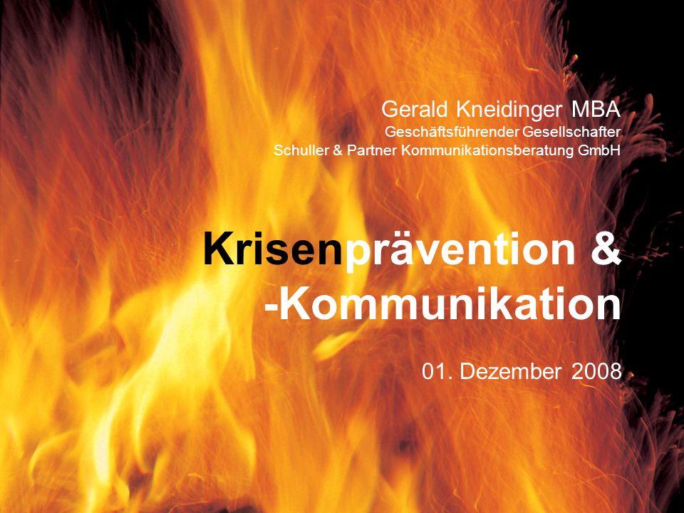 Krisenprävention & -Kommunikation Gerald Kneidinger MBA