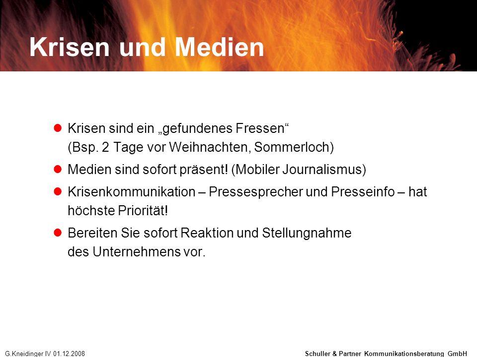 """Krisen und Medien Krisen sind ein """"gefundenes Fressen (Bsp. 2 Tage vor Weihnachten, Sommerloch) Medien sind sofort präsent! (Mobiler Journalismus)"""