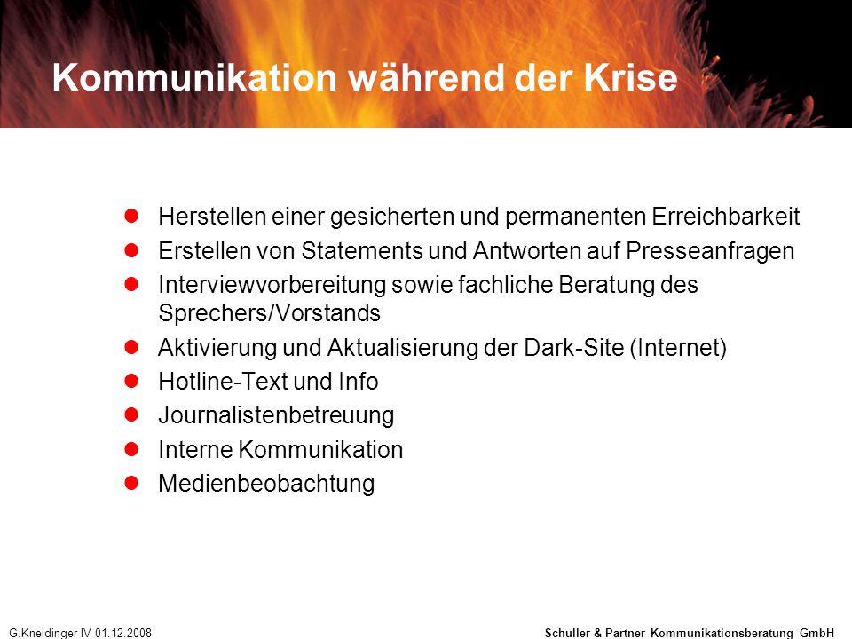 Kommunikation während der Krise