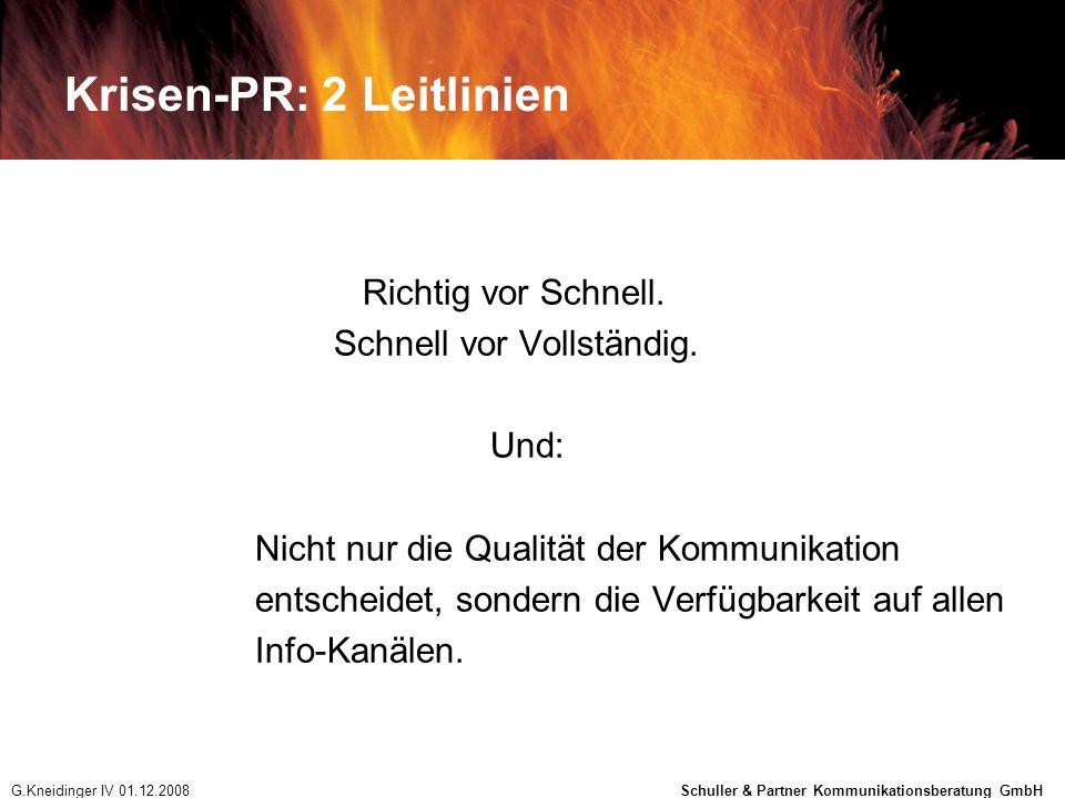 Krisen-PR: 2 Leitlinien