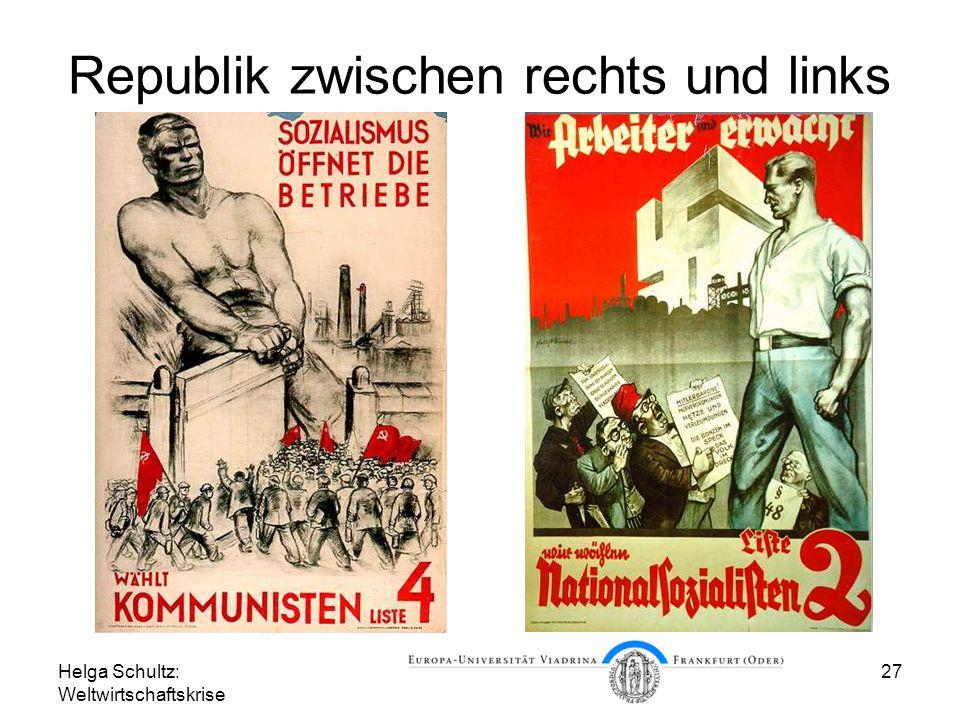 Republik zwischen rechts und links