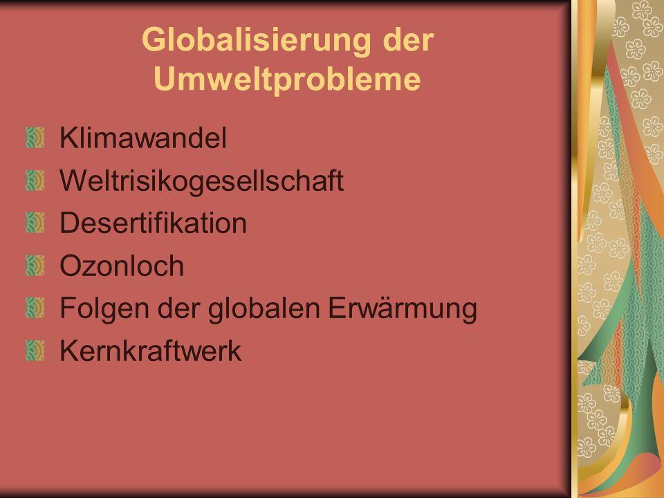 Globalisierung der Umweltprobleme