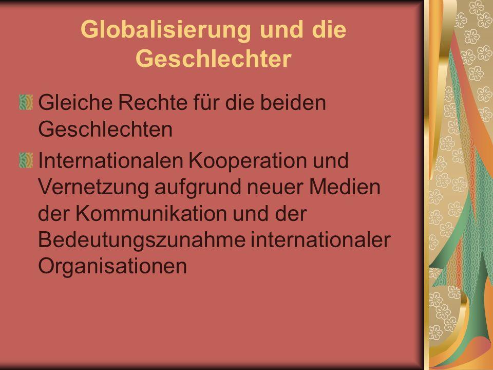 Globalisierung und die Geschlechter