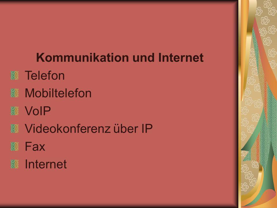 Kommunikation und Internet