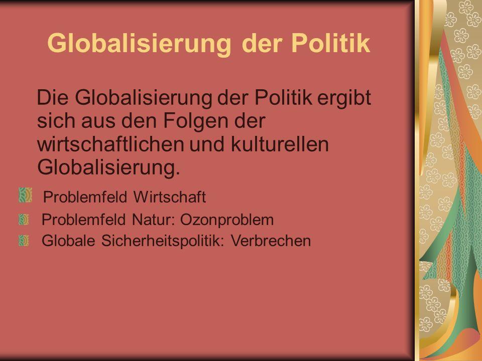 Globalisierung der Politik