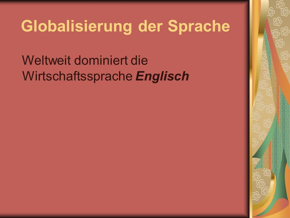 Globalisierung der Sprache