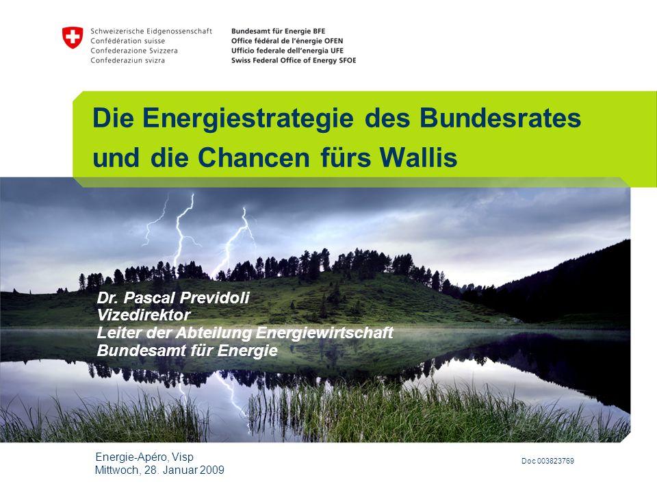 Die Energiestrategie des Bundesrates und die Chancen fürs Wallis
