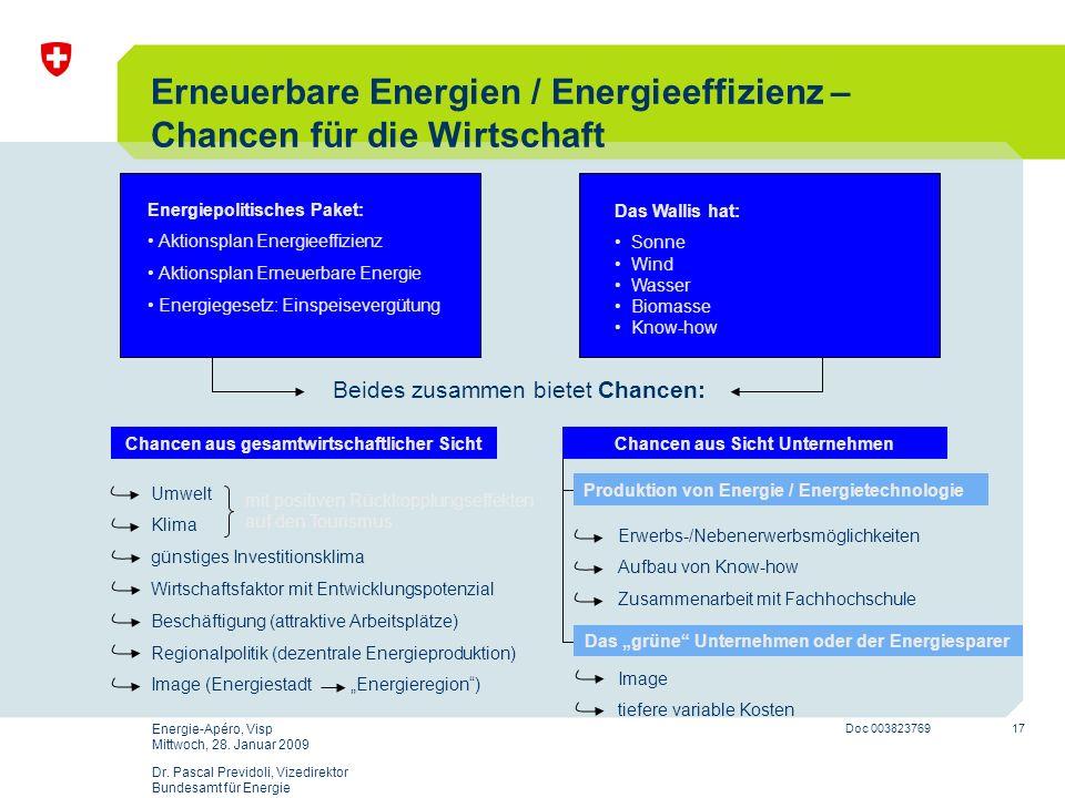 Erneuerbare Energien / Energieeffizienz – Chancen für die Wirtschaft
