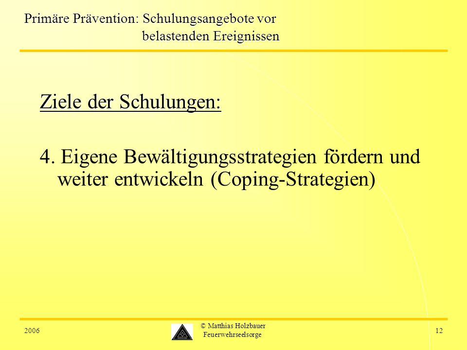 Primäre Prävention: Schulungsangebote vor belastenden Ereignissen
