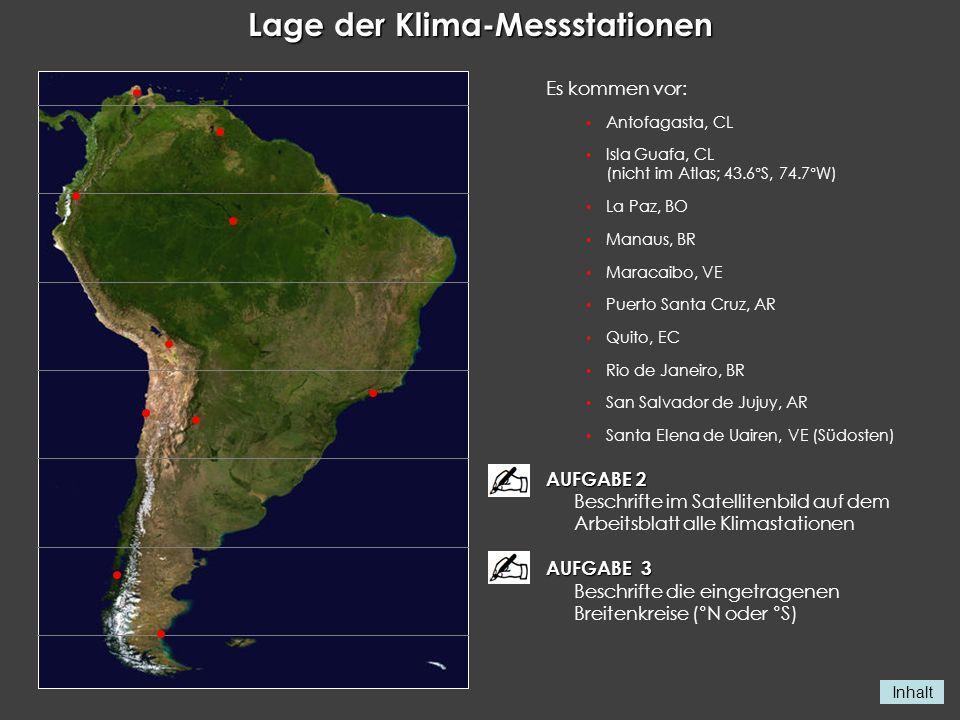 Lage der Klima-Messstationen