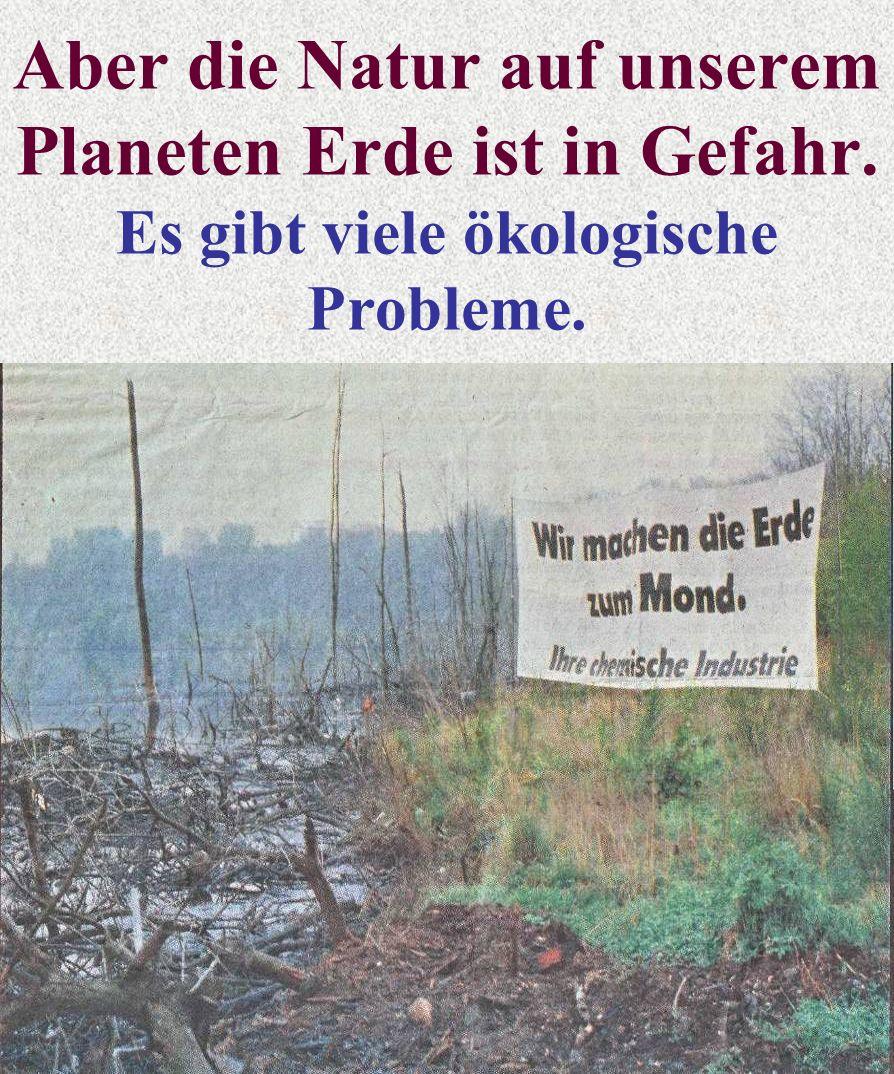 Aber die Natur auf unserem Planeten Erde ist in Gefahr