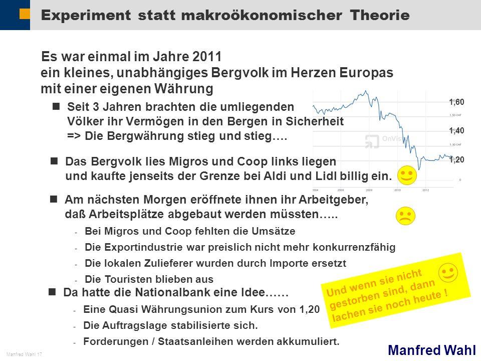 Experiment statt makroökonomischer Theorie