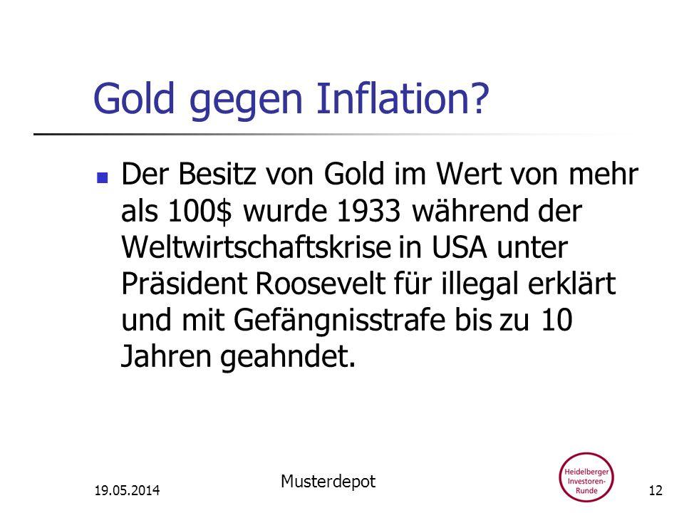 Gold gegen Inflation