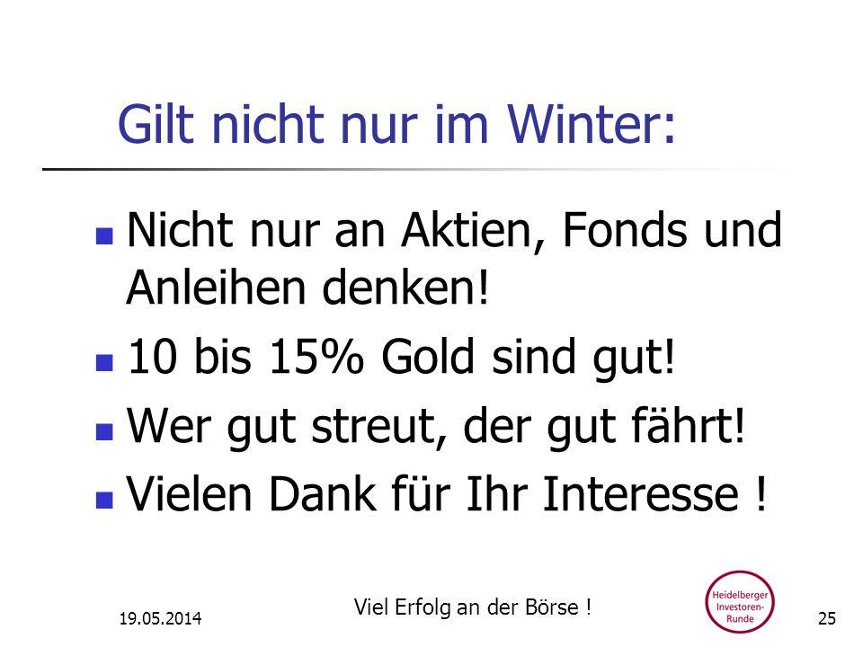 Gilt nicht nur im Winter: