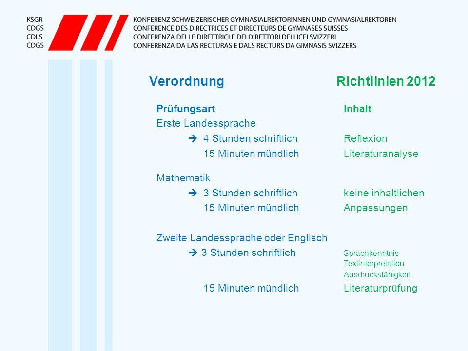 Verordnung Richtlinien 2012
