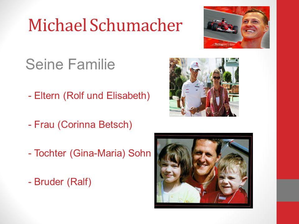 Michael Schumacher Seine Familie - Eltern (Rolf und Elisabeth)