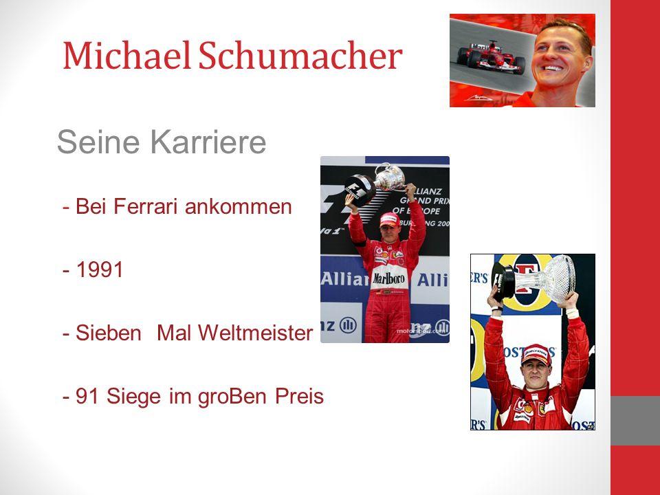 Michael Schumacher Seine Karriere - Bei Ferrari ankommen - 1991