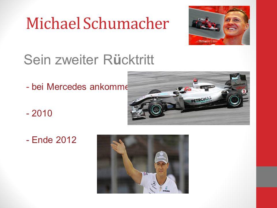 Sein zweiter Rücktritt - bei Mercedes ankommen - 2010 - Ende 2012