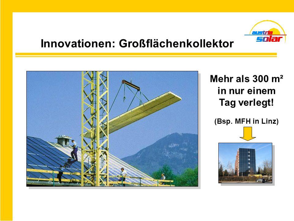 Innovationen: Großflächenkollektor