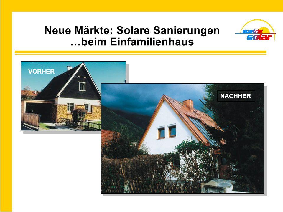 Neue Märkte: Solare Sanierungen …beim Einfamilienhaus